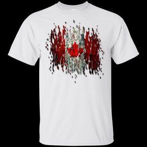 Gildan Ultra Cotton Graphic Tees - Canadian Flag